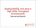 Spinn3R Architecture Talk - 2008 Mysql Users Conference